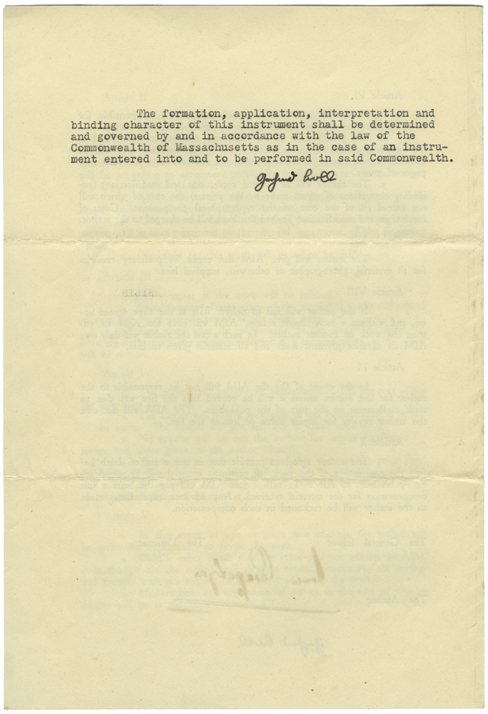 Original CMM contract, page 4
